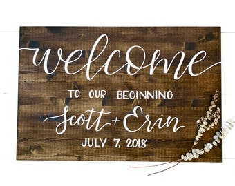 """Wedding Welcome Sign 24""""x36"""" 