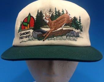 Vintage Golden Harvest Trucker SnapBack hat