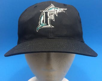 Vintage florida marlins snapback hat adjustable
