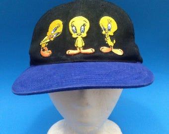 Vintage Tweety Bird SnapBack Hat Adjustable 1990s Warner Brothers