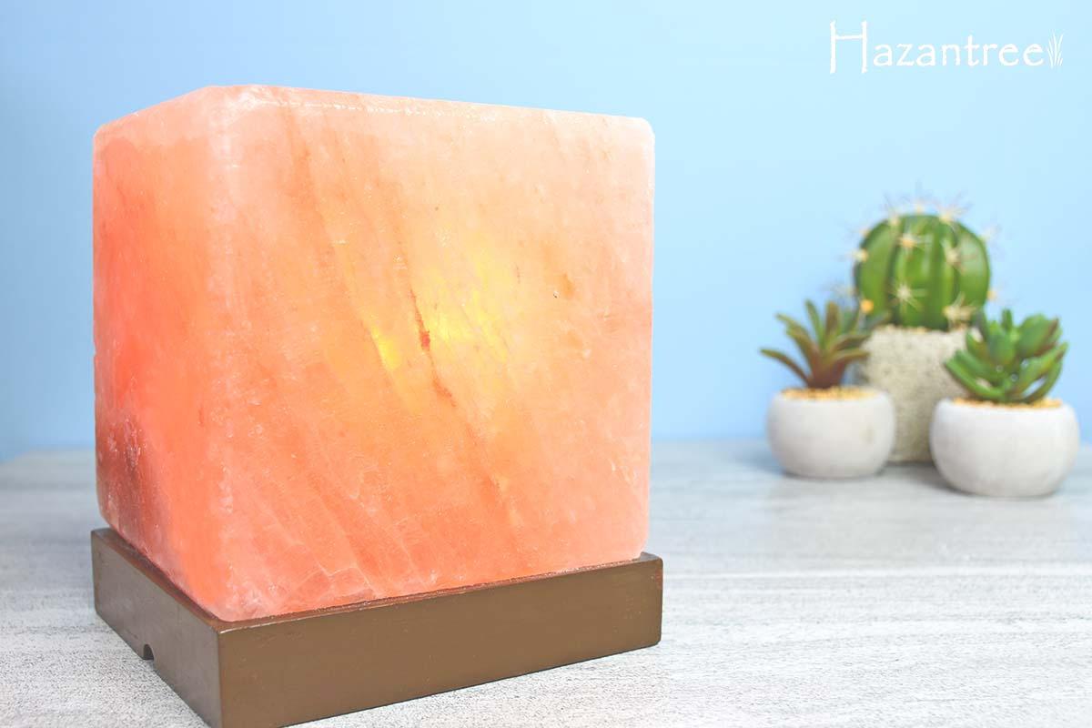 Himalayan Pink Salt Lamp Bulb Wattage : Hazantree Natural Himalayan Salt Lamp Cube Pink Salt Rock