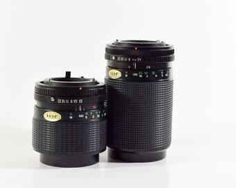 Albinar-ADG Pair of lenses 30-70mm & 80-200mm Zoom lens W/ Canon FD mount