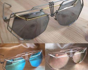 Steampunk sunglasses, festival sunglasses, Burning Man sunglasses, men's sunglasses, women's sunglasses, silver sunglasses, festival wear