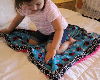 """Lady Bug Cuddle Blanket 33"""" x 33"""""""