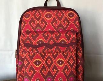 Handmade silk backpack 001