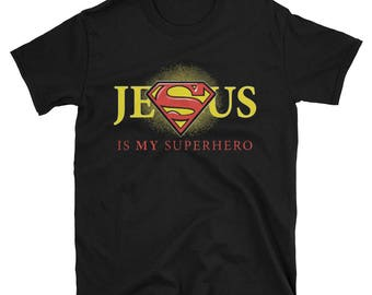 Jesus Is My Superhero Jesus Christian T-Shirt Chrismast Gift Shirt