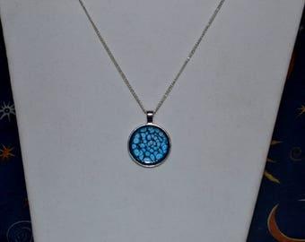 Blue Honeycomb Necklace