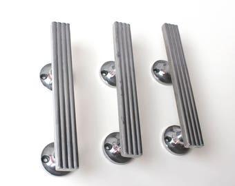 Set of 3 vintage door knobs, metal door knobs, vintage door knobs, door handle, Metal Door knob, chromium-plated door handler, Retro knob