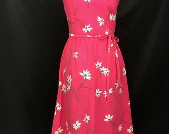 70's Bright Pink Malia Dress