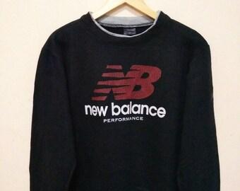 New Balance Performance sweater sweatshirt jumper pullover big logo
