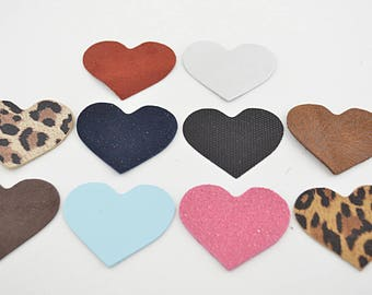 A lot of hearts leather Sheepskin (8901474)