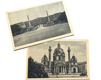 Vintage postcards from Vienne - Austria (2 postcards)