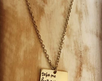 Take me deeper necklace