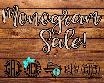 Monogram Sale!!! (3in X 3in)