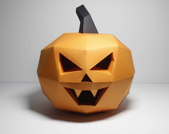 how to make a paper pumpkin lantern