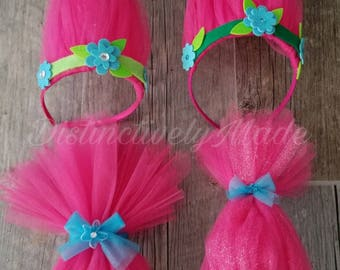Poppy Troll Inspired Hair Band/ Headbands- pick from one of the four