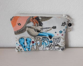 women hippie print wallet