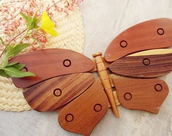 Vintage Wooden Butterfly Trivet from Costa Rica/Wall Decor