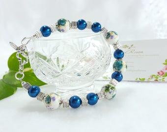 Multicolored porcelain bracelet UNIQUE#8