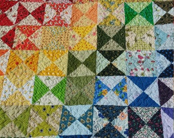 Quilted Rainbow Baby Play Mat