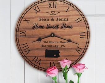 Pennsylvania Housewarming Gift - New Home - State Map - Living in Pennsylvania - Home PA - Keystone State - Home Sweet Home - Street Address