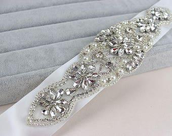 Wedding Dress Belt/Wedding Belt/Rhinestone Belt/Rhinestone Sash/Wedding Sash/Diamante Bridal Sash/Crystal Sash/Bridal Belt, RA-03