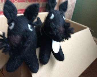 Cute Felt Scottish Terrier - Scottie Dog.