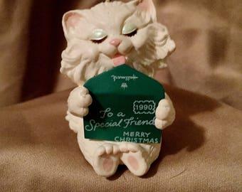 1990 Hallmark Friendship Kitten Ornament