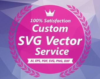 Photo Tracing, Image Tracing, Logo Tracing, Custom Vector Illustration, Convert Logo to Vector, SVG Silhouette, Custom Vector Portrait