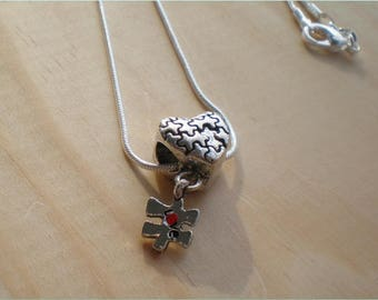 Autism Necklace, Support Necklace, Love Necklace, Jewelry Findings