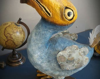 UNIQUE available - Paper mache handmade Dodo Sculpture