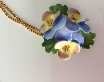 Vintage ceramic necklace made in England 1990's