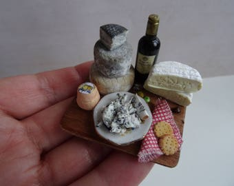 1:12 cheese tray, miniature food for dolls ' house, handicrafts