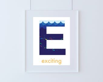 Letter E for Exciting Kids Art Printable