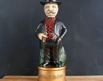 1970's Alberta's Bourbon Gentleman/Colonel Bourbon Decanter