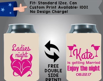 Ladies night Name is Getting Married ENJOY THE NIGHT Date Collapsible Fabric Bachelorette Party Cooler Double Side Print (Bachelorette36)