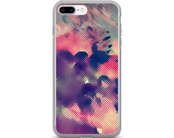 iPhone 7 Plus Watercolor Design Case - Scratch Resistant TPU