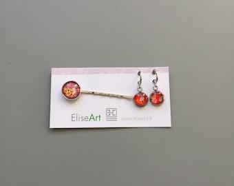 set PIN and earrings