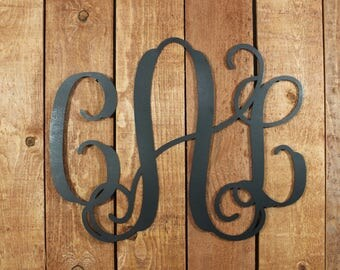 Large Metal Monogram Sign | Custom Metal Monogram Sign | Wall Hanging  | Weddings | Photo Props | Painted | Nursery | Graduation Gift