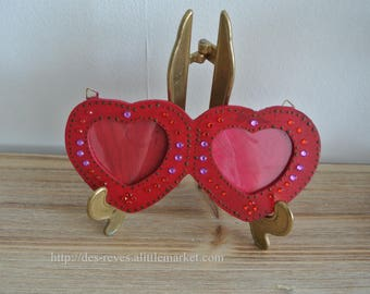 Wooden photo frame - heart