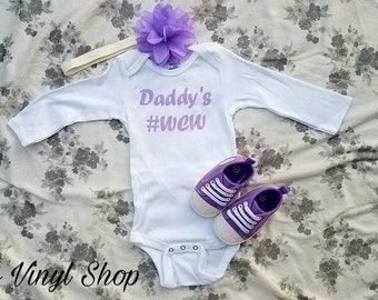 Daddy's WCW Women Crush Wednesday Baby Girl Onesie