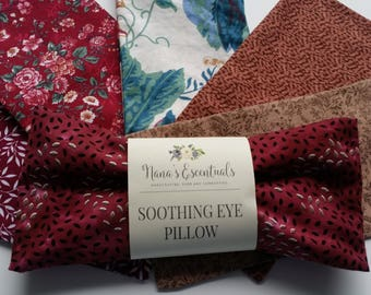 FREE SHIP-Flax Seed Eye Pillow-Cold Warm Compress-All Natural Cotton-Soothing-Headache Relief-Sinus Relief