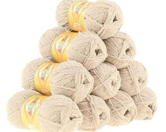 10 x 50 g soft yarn fluffy wool SOFTY by ALIZE No. 310 honey
