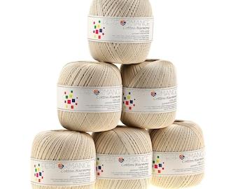 6 x 100g thread cotton harmony #302 Sand