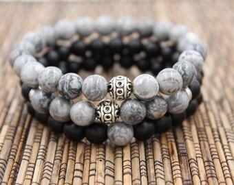 Storm Stack - Beaded Bracelet
