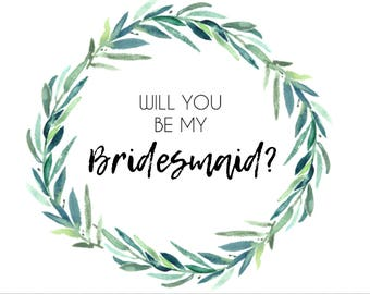 Full Set Eucalyptus Wreath Wedding Party Cards