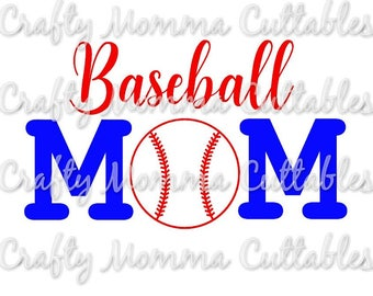 Baseball Mom SVG file // Baller Mom SVG // Boy Mom Cut File // Ball mom Silhouette File // Mom of boys Cutting File // Momlife SVG file