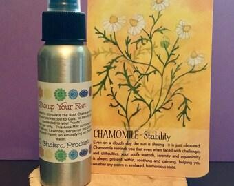 Stomp Your Feet Mist / Mind Body and Spirit / Chakra Balance Spray / Root/ Base/ Muladhara/ 1st Chakra / Ground / Stability / Energy Healing