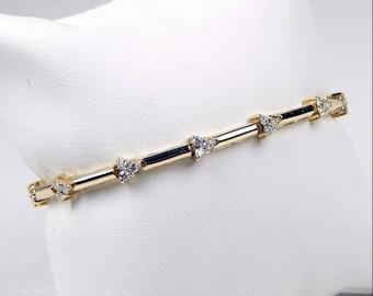 BHD 14k gold 1 Ctw diamond tennis bracelet #10531
