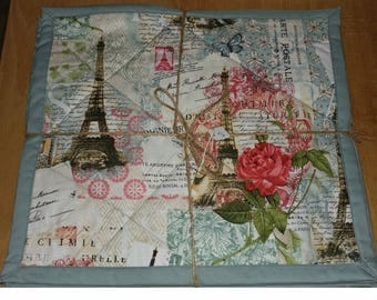 Quilted Place mat Set of 6 Various themes dogs cats sunflowers Paris herbs berries country